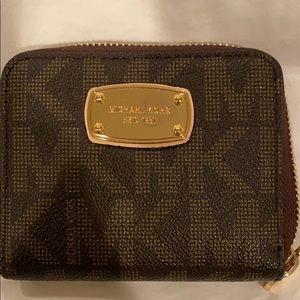 Small Michael Kors Zip Wallet